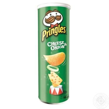 Pringles with taste of cheese and onion chips 165g - buy, prices for Novus - image 2