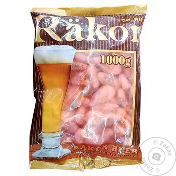 Креветки Rakor неочищенные варено-мороженые 1кг
