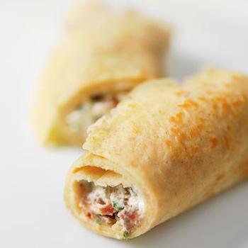 Ржаные блинчики с творожным сыром и инжиром