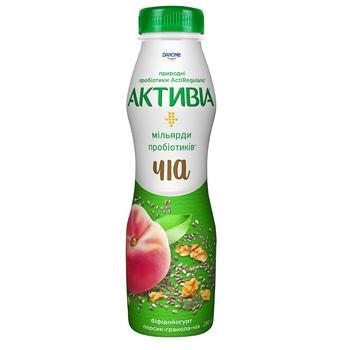 Біфідойогурт Активіа персик-чіа-гранола 1,5% 290г