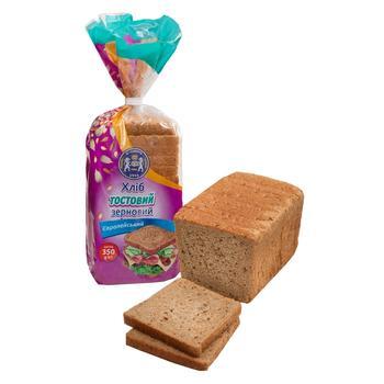 Хлеб Кулиничи Европейский Тостовый зерновой 350г - купить, цены на Восторг - фото 1