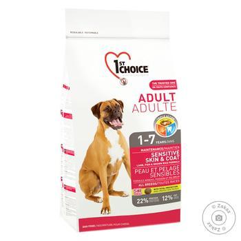 Корм сухий 1st Choice Adult з ягням та рибою для собак всіх порід від 12міс 350г - купити, ціни на Восторг - фото 1