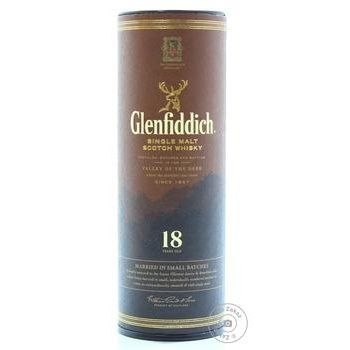 Виски Glenfiddich 18 лет 40% 50мл