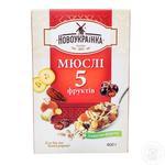 Novoukrayinka Muesli 5 Fruits 400g - buy, prices for Furshet - image 2