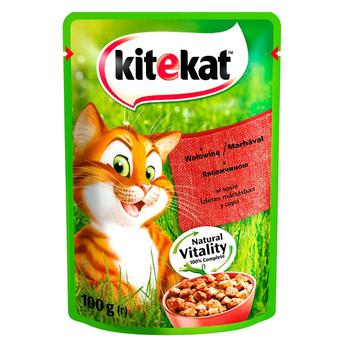 Kitekat food for adult cats with beef in jelly 100g - buy, prices for CityMarket - photo 1