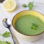 Крем-суп из фенхеля, порея и шпината