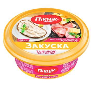 Закуска Пикник меню с шинкой и сыром для бутербродов 100г - купить, цены на СитиМаркет - фото 1