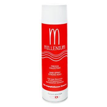 Лак Millenium для волос сильная фиксация с натуральным экстрактом жожоба для окрашенных волос 250мл Россия