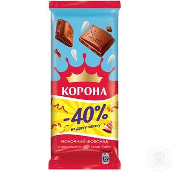 Шоколад молочный Корона 2*85г - купить, цены на Novus - фото 1