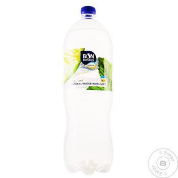 Напій соковмісний Бон Буассон  Зі смаком Лайм-М'ята сильногазований 2л - купити, ціни на Фуршет - фото 1