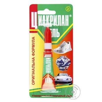 Клей-гель Циакрилан 2г - купить, цены на Фуршет - фото 1