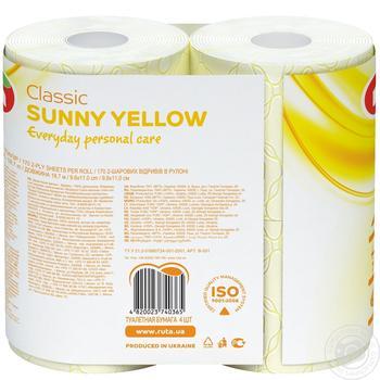 Папір туалетний Ruta Aroma Персик жовтий 2-шаровий 4шт - купити, ціни на Novus - фото 3
