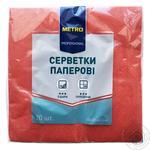 Салфетки METRO Professional бумажные красные 3 слоя 33*33 20шт