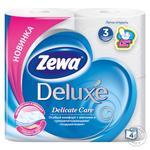 Туалетная бумага Zewa Deluxe Aqua Tube Delicate Care 3 слоя 4шт
