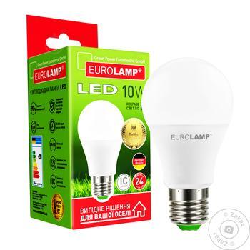 Лампа светодиодная Eurolamp LED A60 E27 10W 4000K - купить, цены на Метро - фото 1