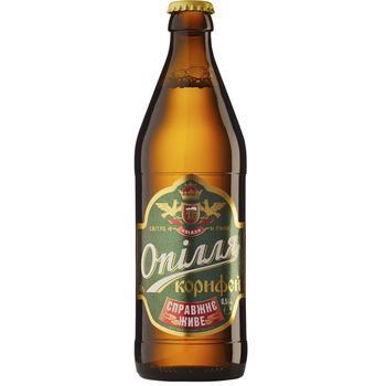 Пиво Ополье Корифей живое светлое 3.7% 0,5л - купить, цены на СитиМаркет - фото 1