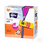 Прокладки ежедневные Bella Panty Soft Deo Fresh 50+10шт