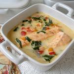Суп с лососем на кокосовом молоке