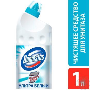 Domestos Эксперт сила 7 Чистящее средство для унитаза Ультра белый 1л - купить, цены на Novus - фото 2