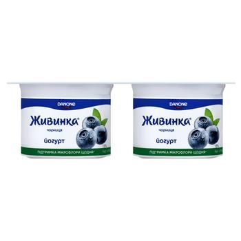 Йогурт Живинка черника 1,5% 115гх4 шт - купить, цены на Фуршет - фото 1