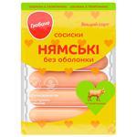 Сосиски Глобино Нямские с говядиной в/с 275г