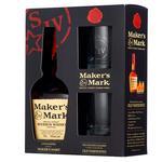 Бурбон-Виски Maker's Mark 45% 0,7 л 2 стакана