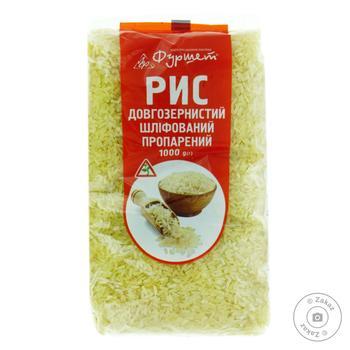 Рис пропарений довгозернистий шліфований Фуршет 1кг - купити, ціни на Фуршет - фото 1
