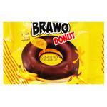 Кекс Brawo Donut с банановой начинкой в какао-молочной глазури 50г