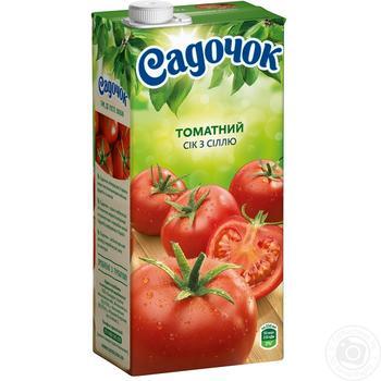 Сок Садочок томатный с солью 0,95л - купить, цены на Фуршет - фото 1
