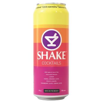 Напиток Шейк Секс на пляже слабоалкогольный газированный 7%об. 500мл