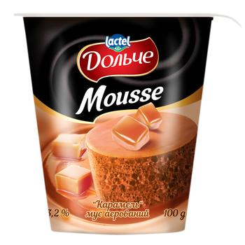 Dolce Caramel Aerated Mousse 3.2% 100g - buy, prices for CityMarket - photo 1