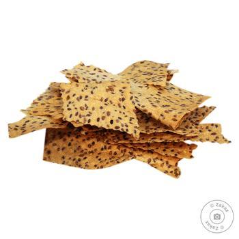 Крекери з насінням льону (ваг) (вл.вироб.) - купить, цены на Восторг - фото 1