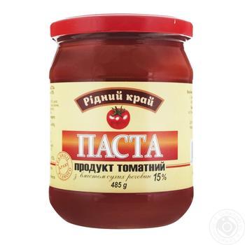 Паста томатна Рідний край 15% 485г - купити, ціни на Ашан - фото 1