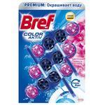 Туалетные блоки для унитаза Bref Color Activ Цветочная свежесть 150г