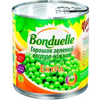 Горошек зеленый Bonduelle экстра-нежный 425мл - купить, цены на Novus - фото 1