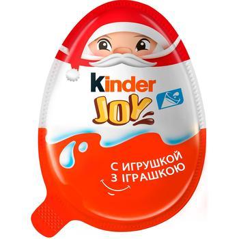 Яйцо Kinder Joy Новогоднее шоколадное с хрустящими вафельными шариками с игрушкой 20г - купить, цены на Восторг - фото 1