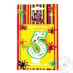 Party Favors Number 5 Cake Candle