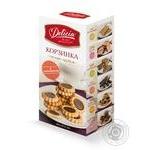 Печиво здобне Корзинка з карамеллю та начинкою Деліція 160 г