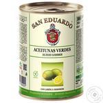Оливки San Eduardo зелені з лимоном з/б 260г