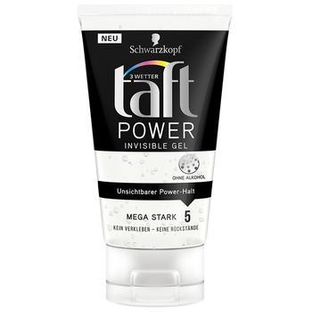 Гель для укладки Taft Три погоди Power Невидимая фиксация 150мл