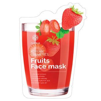 Маска для обличчя Fabrik Cosmetology Fruits Face Зволожувальна з екстрактом полуниці біоцелюлозна 30г