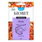 Dry food for aquarium fish  in flakes Biovit Basis of 10g