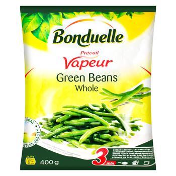 Квасоля Bonduelle зелена стручкова ціла на парі заморожена 400г - купити, ціни на Метро - фото 1