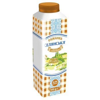 Selianska Fermented Baked Milk 4% 450g - buy, prices for CityMarket - photo 1