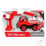 Qunxing Toys Fire Truck Constructor Toy