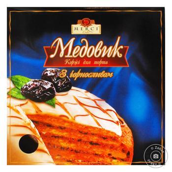 Коржі для торта Мерсі Медовик з чорносливом 500г
