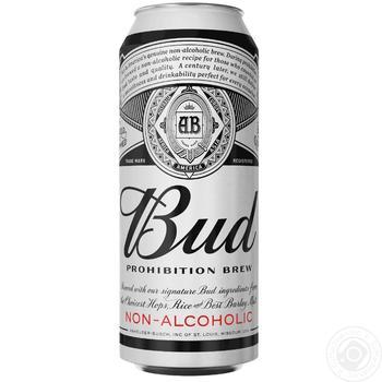 Пиво Bud безалкогольне світле 0,5л - купити, ціни на Novus - фото 1