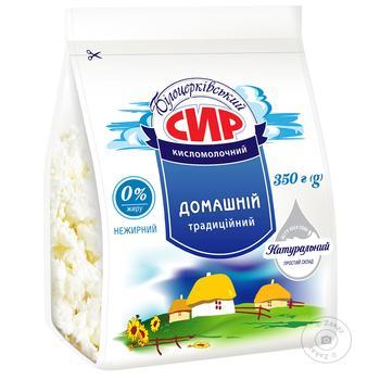 Творог Білоцерковський кисломолочный нежирный 0% 350г