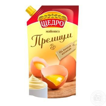 Schedro Premium mayonnaise 72% 550g - buy, prices for MegaMarket - image 1