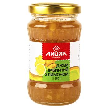 Джем Akura імбирний з лимоном 200г - купити, ціни на Novus - фото 1